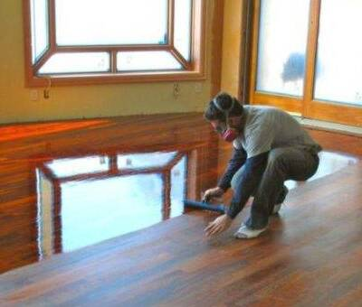 Clean your floor with mineral spirits