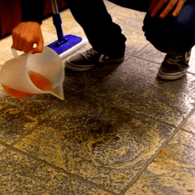 Cleaning Grout with Alkaline Cleaners