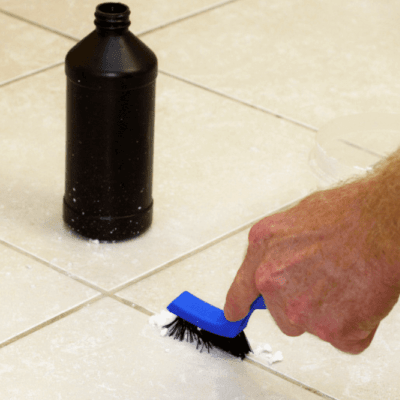 Cleaning Grout with Clorox Bleach