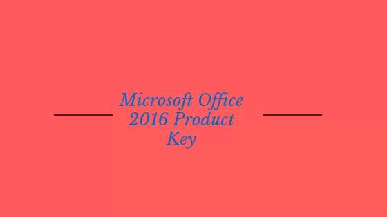 office 2016 ürün anahtarı